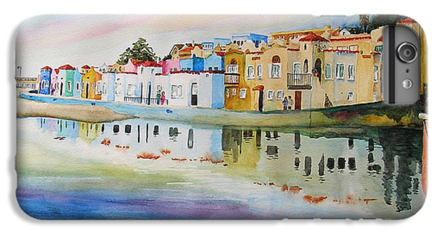Capitola IPhone 6 Plus Case featuring the painting Capitola by Karen Stark
