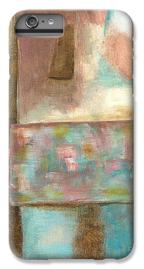Abstract IPhone 6 Plus Case featuring the painting Captive Dreamer by Itaya Lightbourne