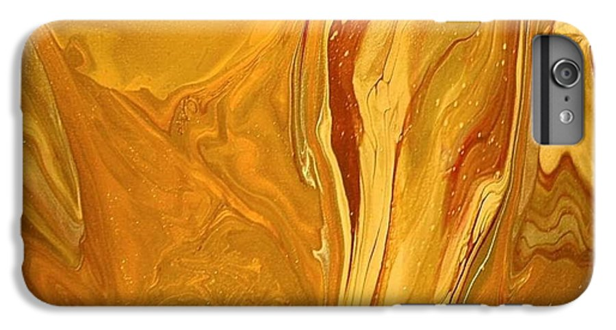 Abstract IPhone 6 Plus Case featuring the painting Caramel Delight by Patrick Mock