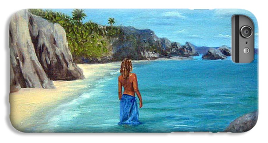 Landscape IPhone 6 Plus Case featuring the painting Caribean Dreaming by Anne Kushnick