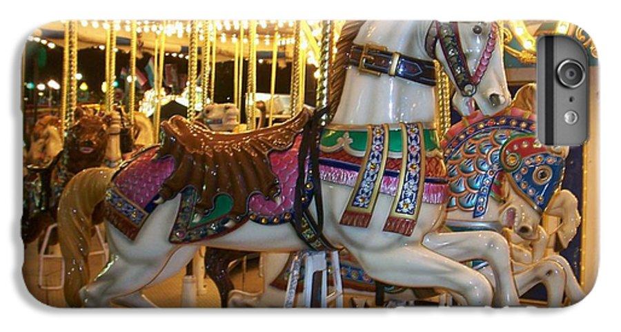 Carosel Horse IPhone 6 Plus Case featuring the photograph Carosel Horse by Anita Burgermeister