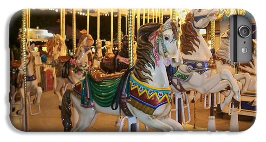 Carousel Horse IPhone 6 Plus Case featuring the photograph Carousel Horse 4 by Anita Burgermeister