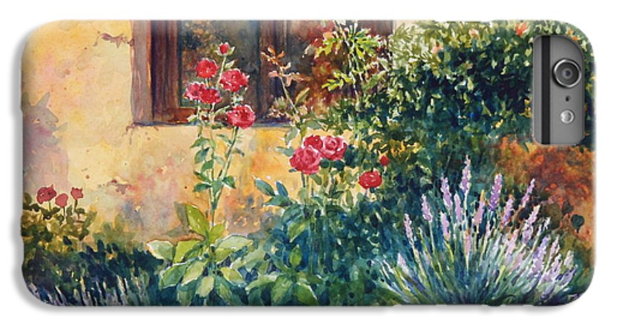 Roses IPhone 6 Plus Case featuring the painting Casale Grande Rose Garden by Ann Cockerill