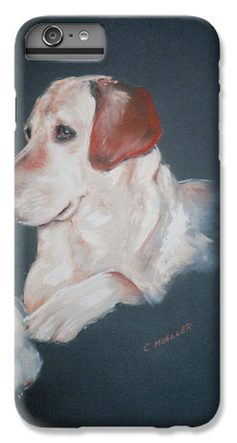Dog IPhone 6 Plus Case featuring the painting Casey by Carol Mueller