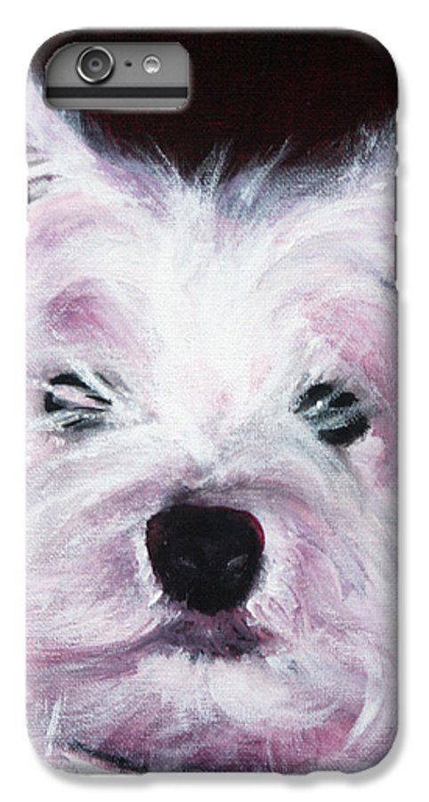 Dog IPhone 6 Plus Case featuring the painting Cassie by Fiona Jack