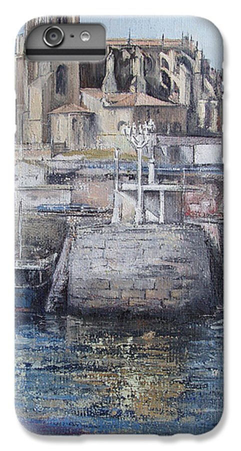 Castro IPhone 6 Plus Case featuring the painting Castro Urdiales by Tomas Castano