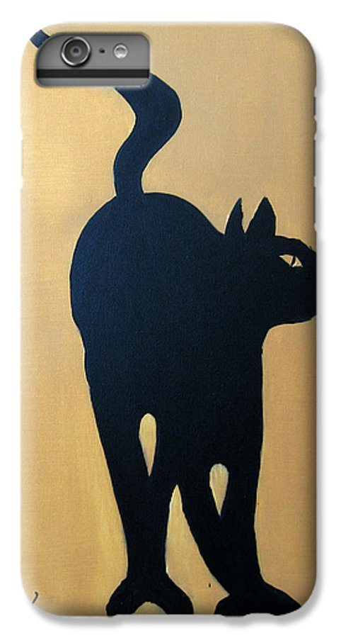 Cat IPhone 6 Plus Case featuring the painting Cat Dance..... Optical Illusion by Patrick Trotter