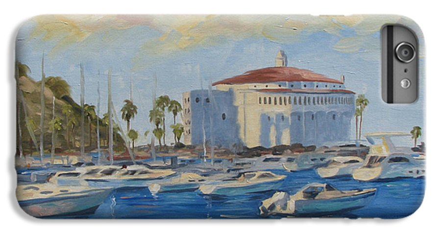 California IPhone 6 Plus Case featuring the painting Catallina Casino by Jay Johnson
