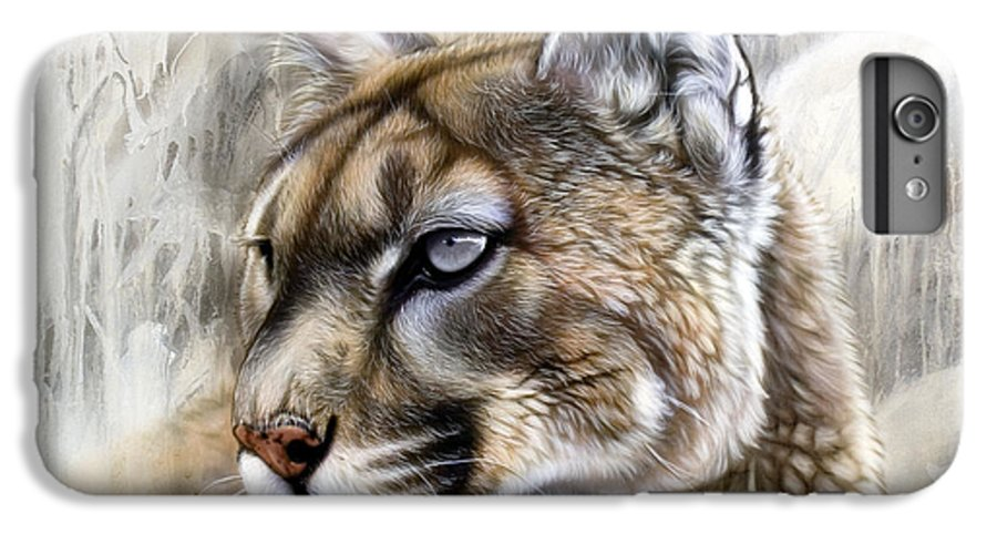 Acrylic IPhone 6 Plus Case featuring the painting Catamount by Sandi Baker