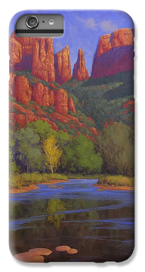 Sedona IPhone 6 Plus Case featuring the painting Cathedral Morning by Cody DeLong