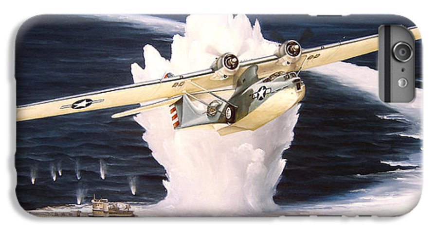 Military IPhone 6 Plus Case featuring the painting Caught On The Surface by Marc Stewart