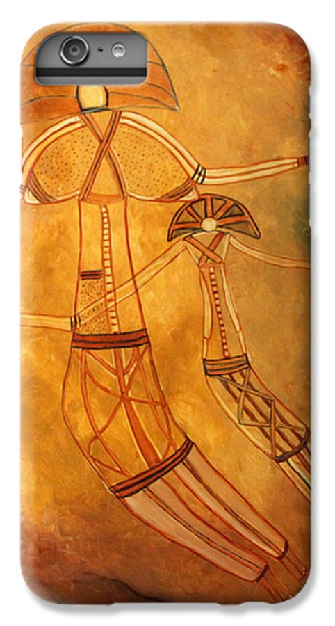 Cave Painting IPhone 6 Plus Case featuring the painting Cave Love by Pilar Martinez-Byrne