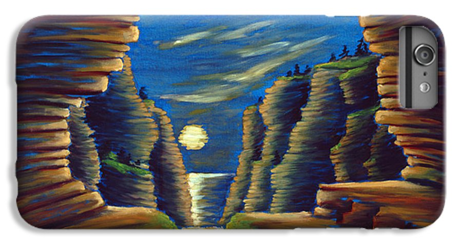 Cave IPhone 6 Plus Case featuring the painting Cave With Cliffs by Jennifer McDuffie