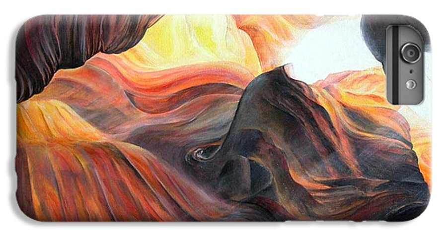 Landscape IPhone 6 Plus Case featuring the painting Caverne by Muriel Dolemieux