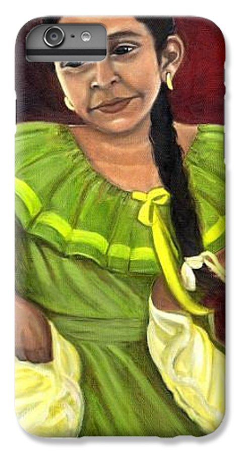 IPhone 6 Plus Case featuring the painting Cecelia by Toni Berry