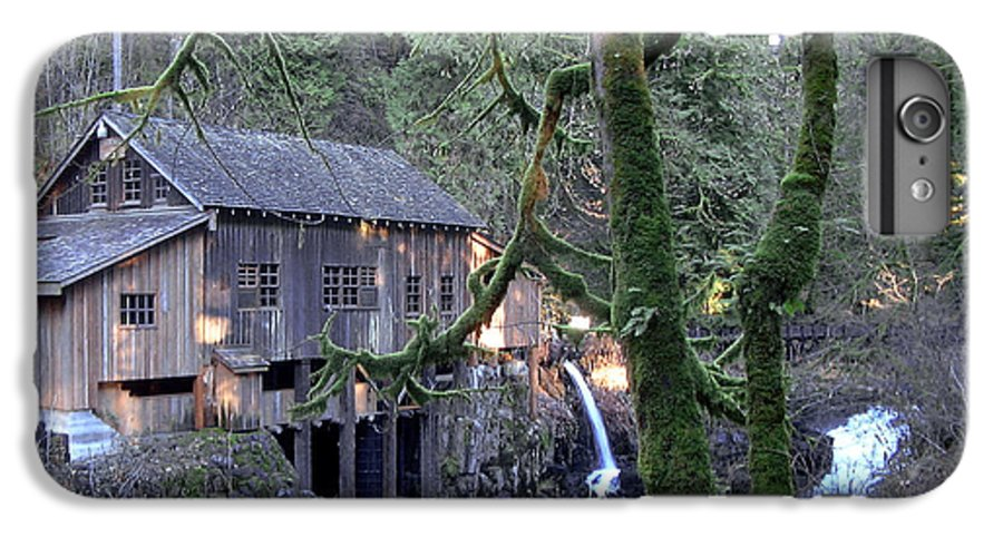 Landscape IPhone 6 Plus Case featuring the photograph Cedar Creek Grist Mill by Larry Keahey