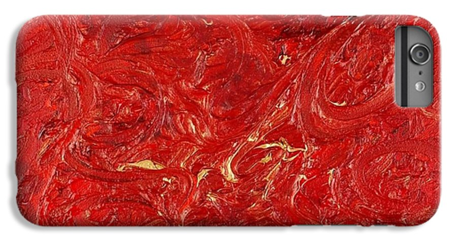 Red IPhone 6 Plus Case featuring the painting Celebration by Nadine Rippelmeyer