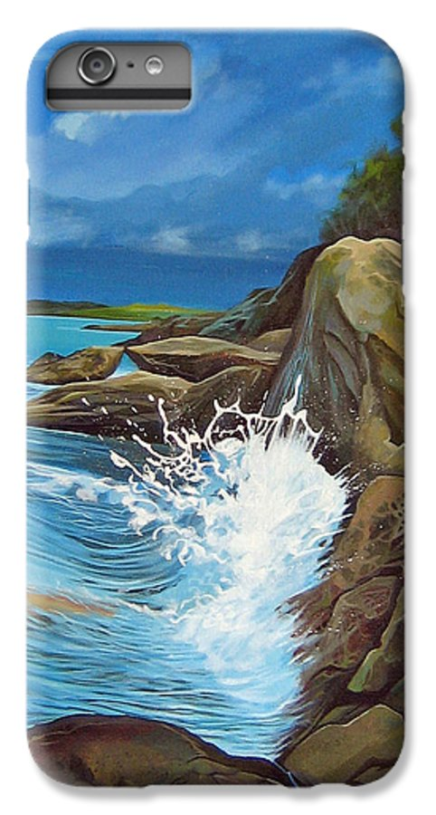 Ocean IPhone 6 Plus Case featuring the painting Cerulean by Hunter Jay