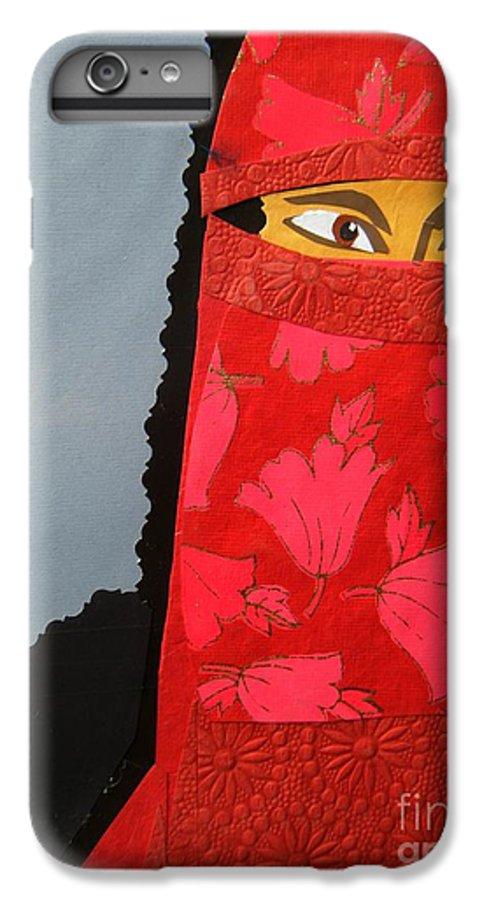 Woman IPhone 6 Plus Case featuring the mixed media Chador by Debra Bretton Robinson