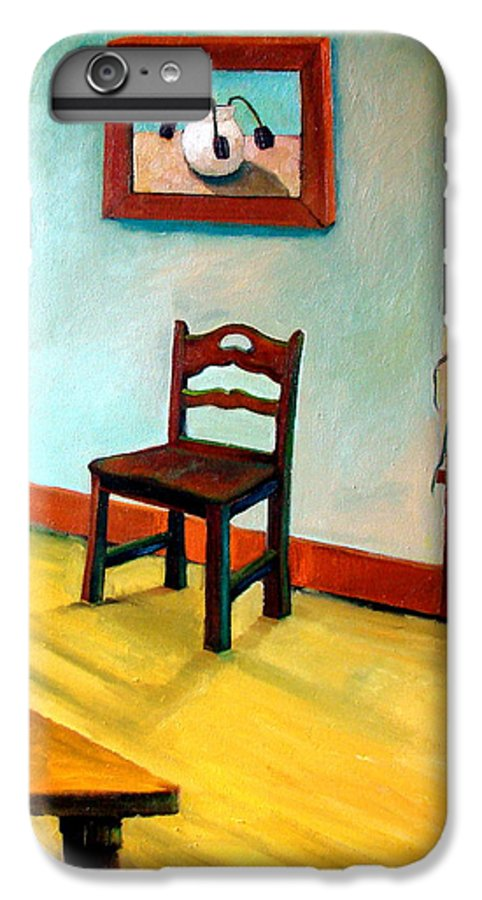 Apartment IPhone 6 Plus Case featuring the painting Chair And Pears Interior by Michelle Calkins