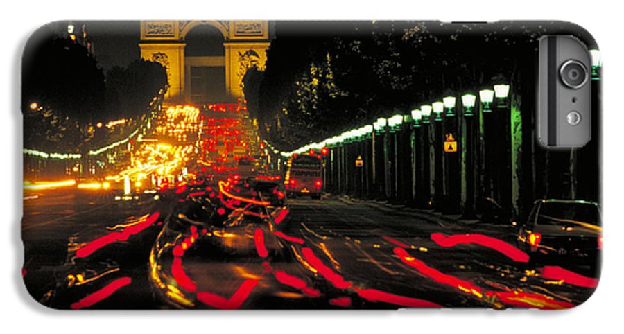 France IPhone 6 Plus Case featuring the photograph Champs Elysee In Paris by Carl Purcell