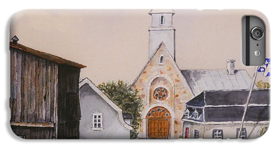 Landscape IPhone 6 Plus Case featuring the painting Charlevoix Quebec by Mary Ellen Mueller Legault