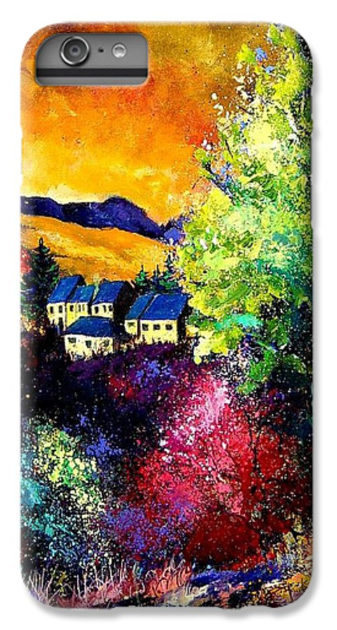 Landscape IPhone 6 Plus Case featuring the painting Charnoy by Pol Ledent