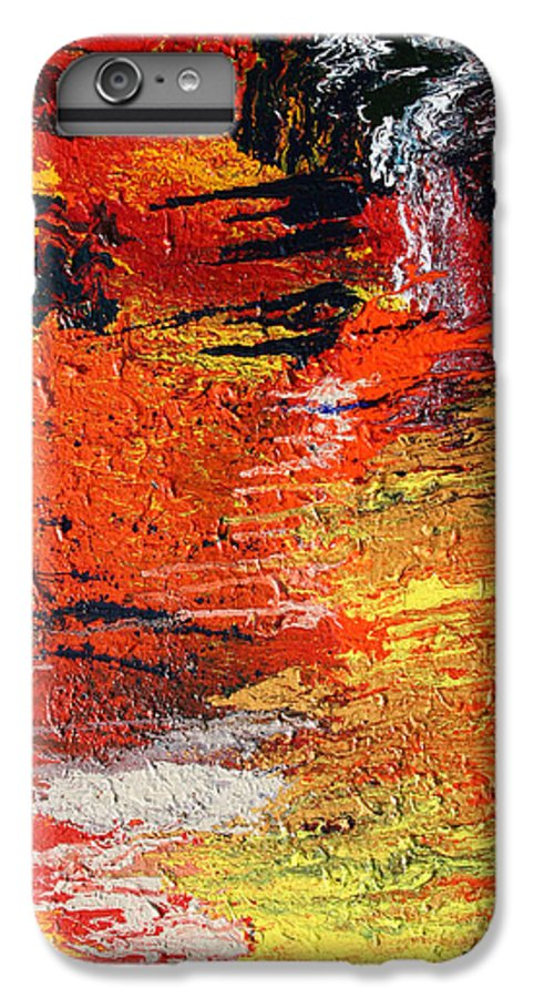 Fusionart IPhone 6 Plus Case featuring the painting Chasm by Ralph White