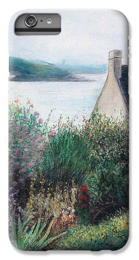 Landscape IPhone 6 Plus Case featuring the painting Chausey by Muriel Dolemieux