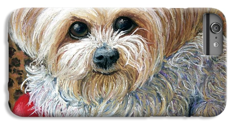 Dog IPhone 6 Plus Case featuring the painting My Friend by Minaz Jantz