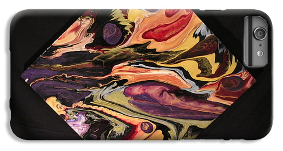 Abstract IPhone 6 Plus Case featuring the painting Cherish The Day by Patrick Mock