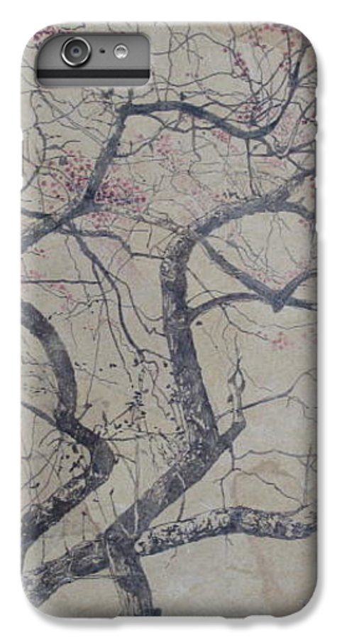 Crab Apple IPhone 6 Plus Case featuring the painting Prairie Fire by Leah Tomaino