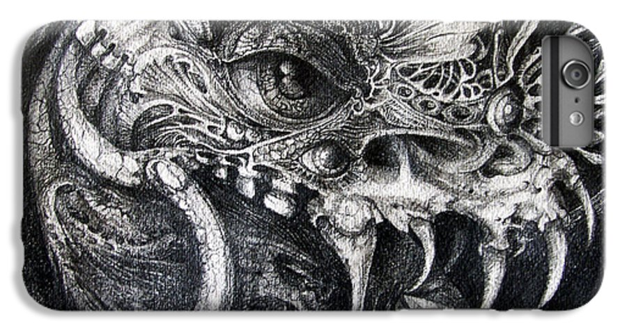 IPhone 6 Plus Case featuring the drawing Cherubim Of Beasties by Otto Rapp
