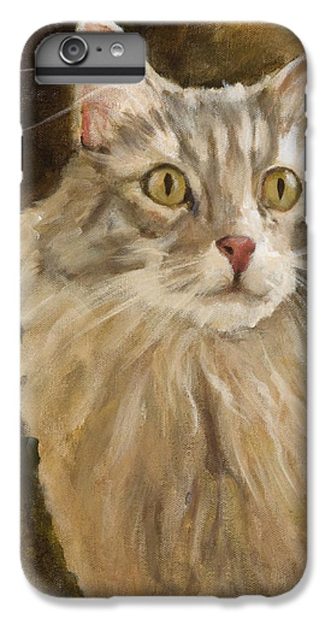 Animal IPhone 6 Plus Case featuring the painting Chessie by Jimmie Trotter