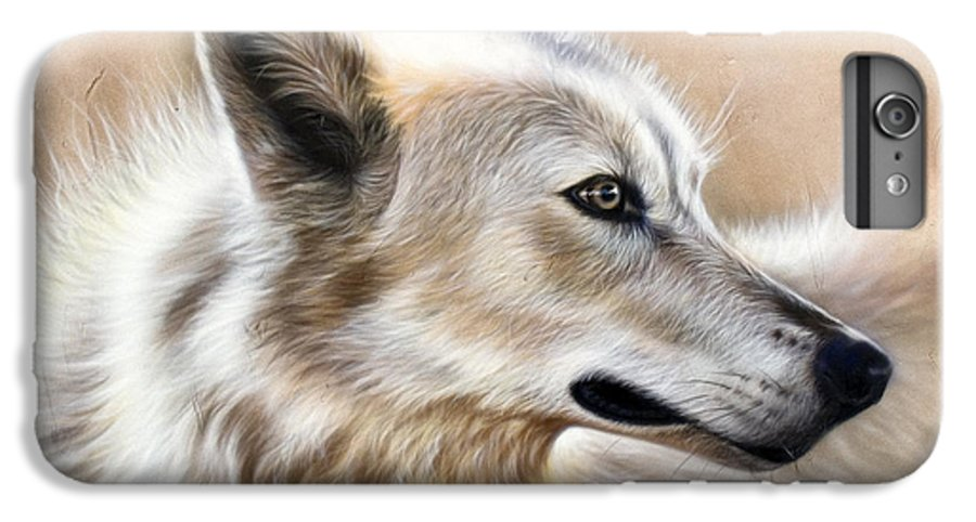 Acrylic IPhone 6 Plus Case featuring the painting Cheyenne by Sandi Baker