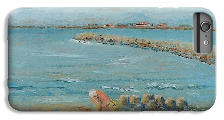 Beach IPhone 6 Plus Case featuring the painting Child Playing At Provence Beach by Nadine Rippelmeyer