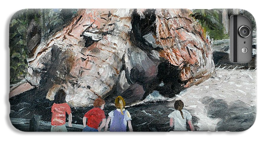 Children IPhone 6 Plus Case featuring the painting Children At Sequoia National Park by Quwatha Valentine