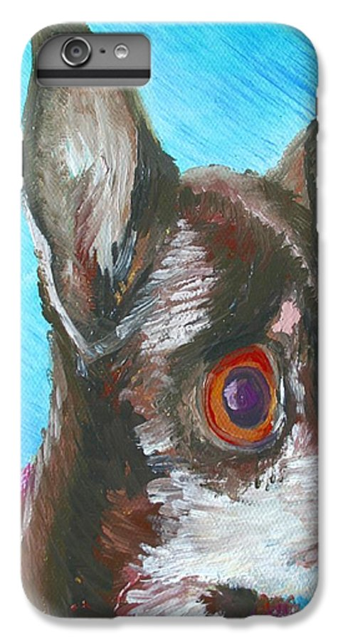 Dog IPhone 6 Plus Case featuring the painting Chili Chihuahua by Minaz Jantz