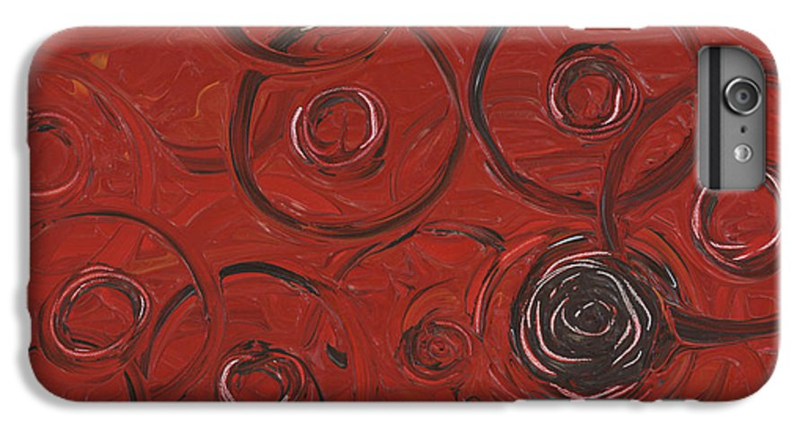 Red IPhone 6 Plus Case featuring the painting Choices In Red by Nadine Rippelmeyer