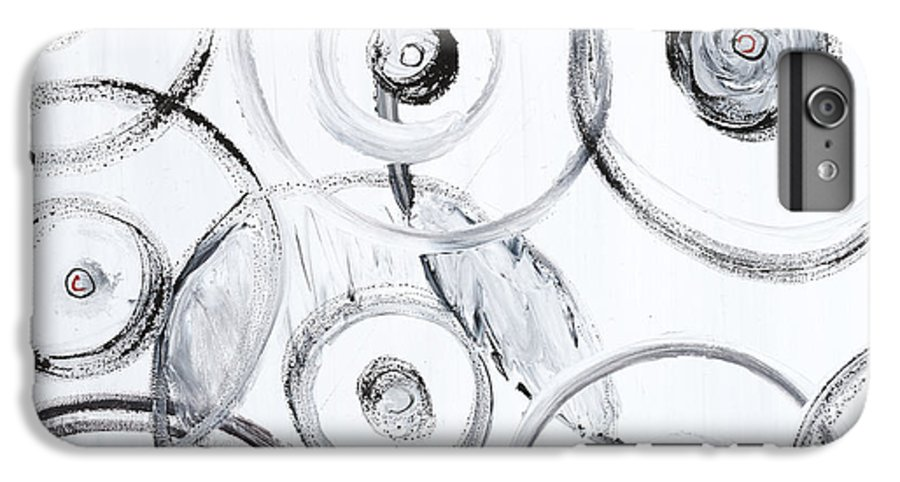Circles IPhone 6 Plus Case featuring the painting Choices In White by Nadine Rippelmeyer