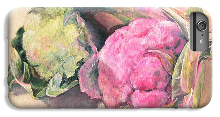 Flower IPhone 6 Plus Case featuring the painting Choux by Muriel Dolemieux