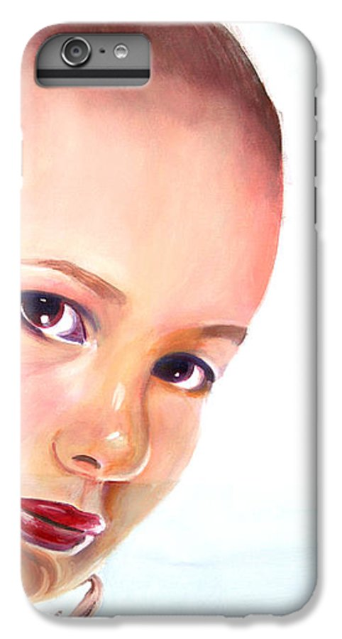Portrait IPhone 6 Plus Case featuring the painting Christine by Fiona Jack