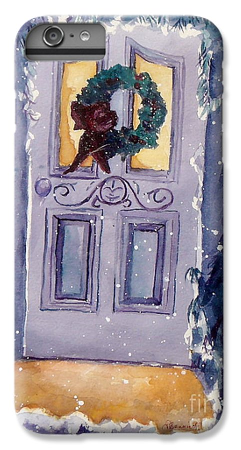 Holiday Scene IPhone 6 Plus Case featuring the painting Christmas Eve by Jan Bennicoff