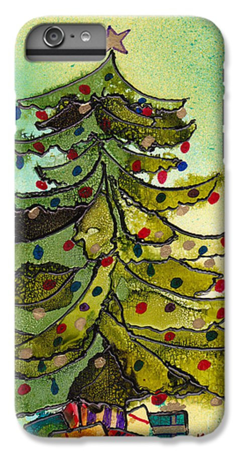 Christmas IPhone 6 Plus Case featuring the painting Christmas Morning 2008 by Susan Kubes