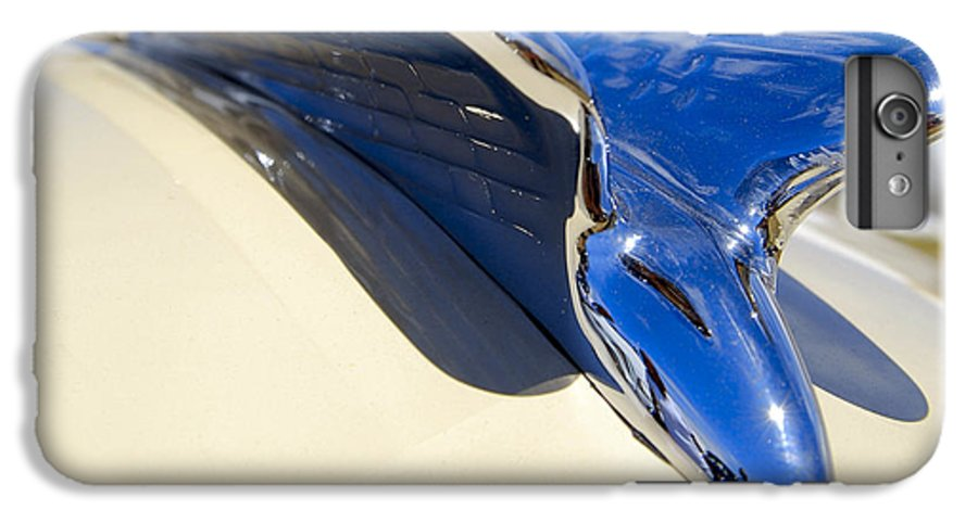 Chrysler IPhone 6 Plus Case featuring the photograph Chrysler New Yorker Deluxe Hood Ornament by Larry Keahey