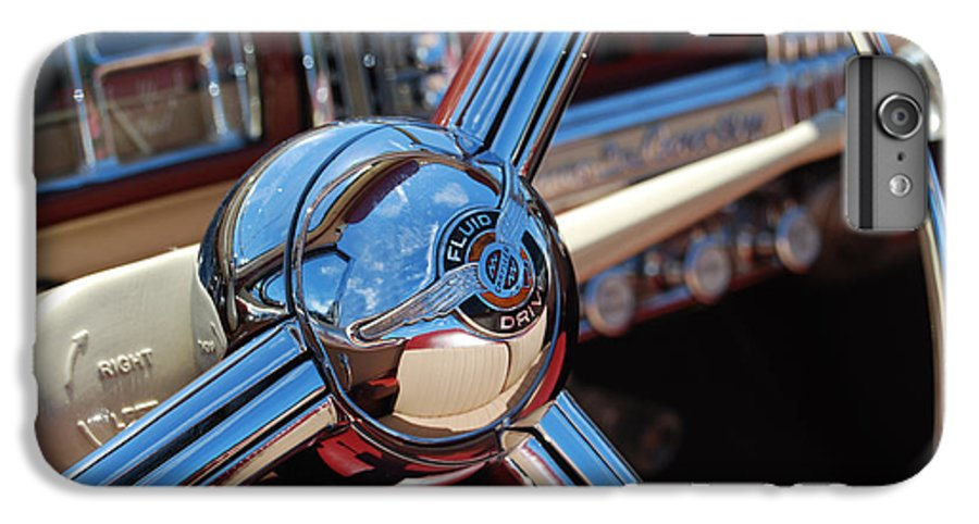 Classics IPhone 6 Plus Case featuring the photograph Chrysler Town And Country Steering Wheel by Larry Keahey