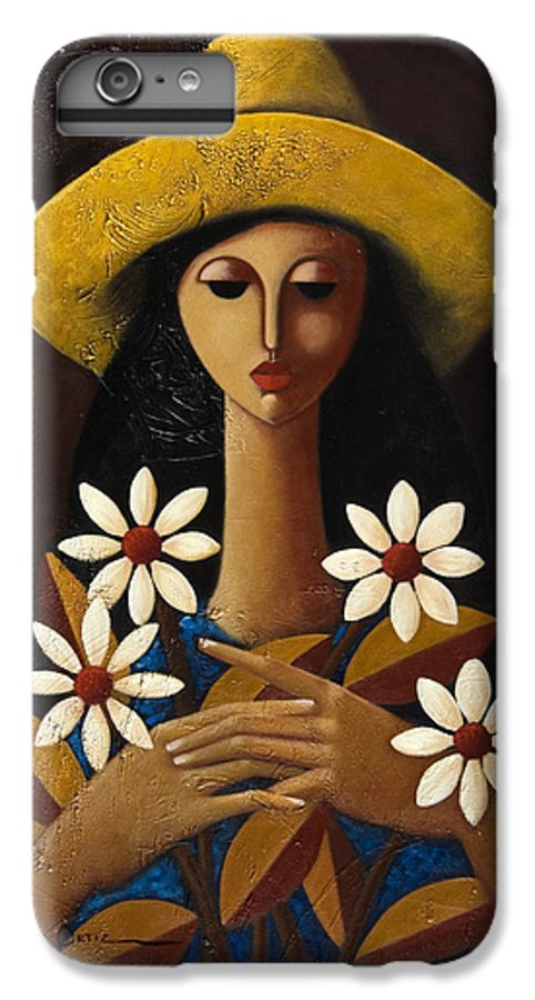 Puerto Rico IPhone 6 Plus Case featuring the painting Cinco Margaritas by Oscar Ortiz