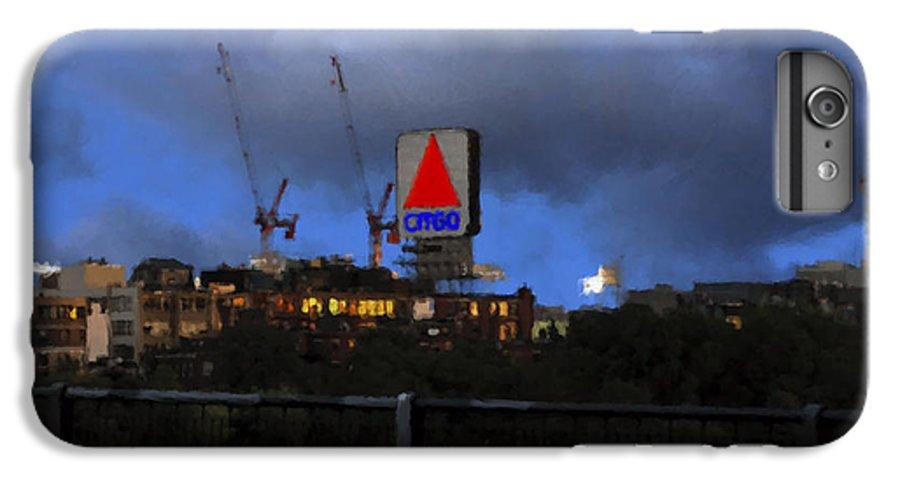 Citgo Sign IPhone 6 Plus Case featuring the digital art Citgo Sign by Edward Cardini