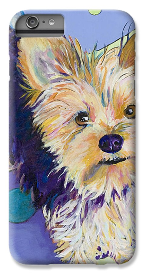 Pet Portraits IPhone 6 Plus Case featuring the painting Claire by Pat Saunders-White