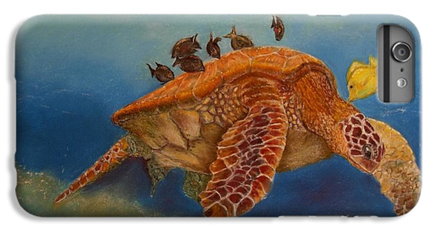 Turtle IPhone 6 Plus Case featuring the painting Cleaning Station by Ceci Watson